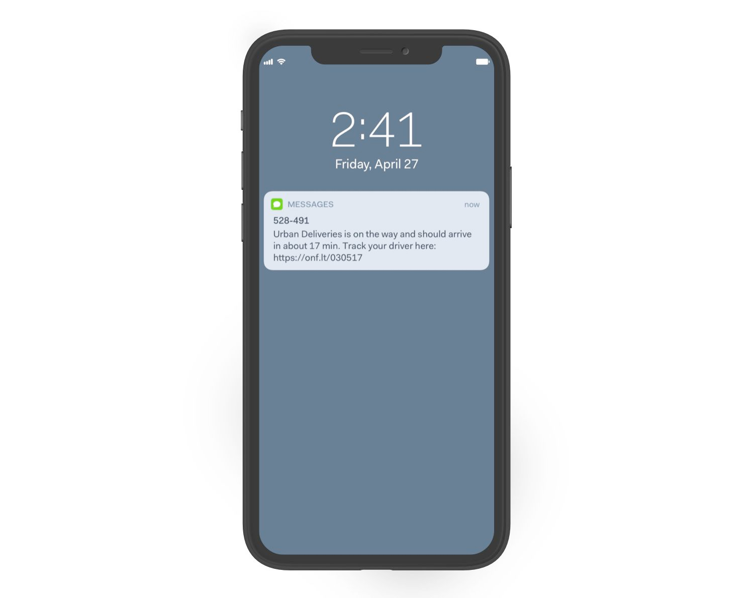 Onfleet's delivery notifications for customers