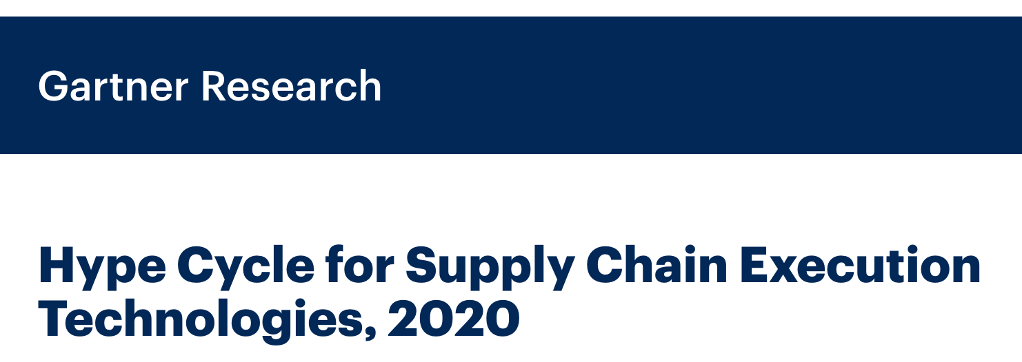 Onfleet Gartner Hype Cycle for Supply Chain Execution Technologies 2020