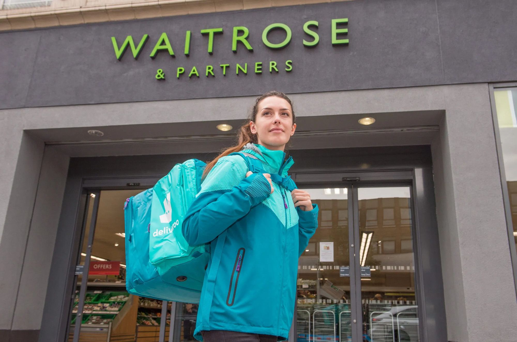 Deliveroo and Waitrose Launch a 30-Minute Grocery Delivery Trial