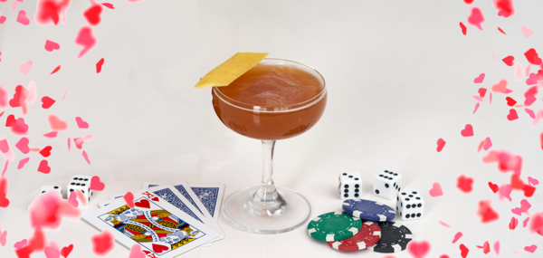 Playin' with the King of Hearts! Get cocktails delivered on February 14th from Sourced Craft Cocktails