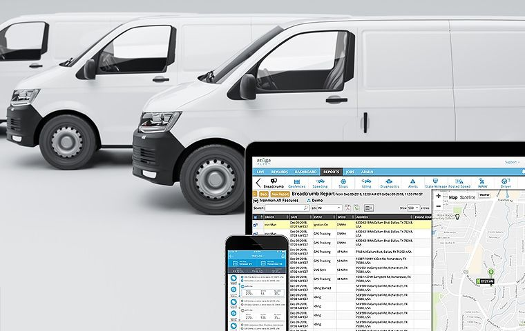 Azuga's systems can be installed in moments and connect with Onfleet's delivery software