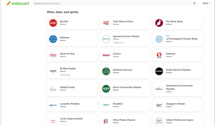 Instacart offers many options and connects directly with your customers