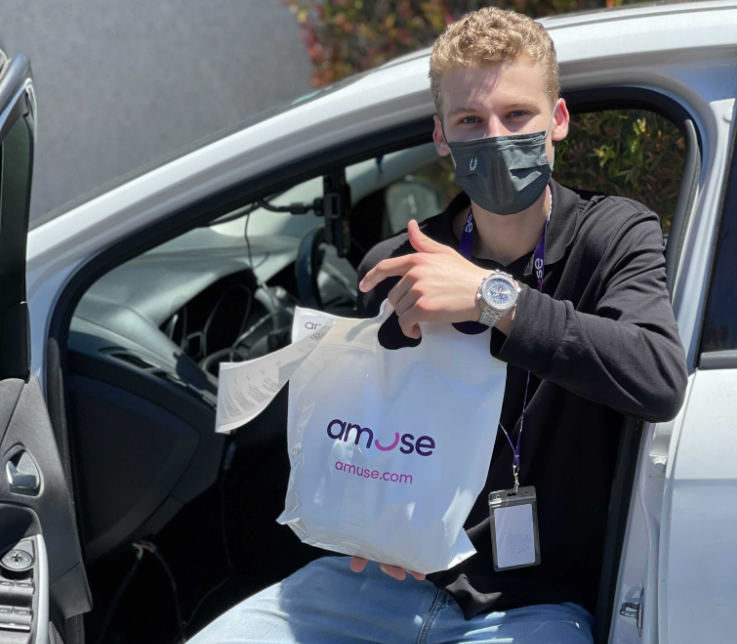 Amuse connects with customers through delivery